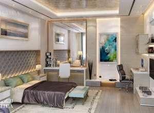تصميم داخلي غرفة نوم فيلا حديثة متميزة