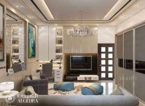 تصميم داخلي غرفة فيلا حديثة