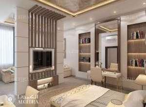 تصميم داخلي غرفة ضيوف فيلا حديثة
