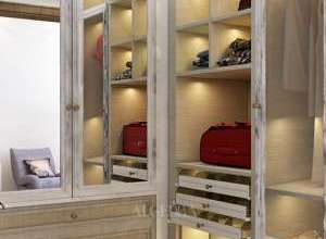مشروع تصميم داخلي خزانة حمام فيلا حديثة