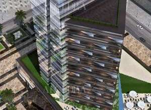 Business Tower Design Aerial View