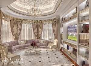 تصميم داخلي كلاسيكي غرفة جلوس
