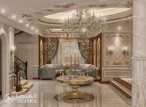 تصميم داخلي كلاسيكي كبير قاعة