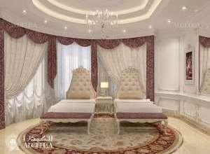 تصميم داخلي كلاسيكي غرفة نوم مزدوجة