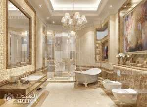 تصميم داخلي كلاسيكي حمام