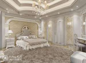تصميم داخلي كلاسيكي غرفة نوم أساسية