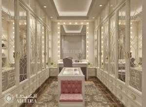 مشروع تصميم داخلي كلاسيكي غرفة ثياب أساسي