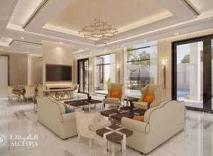 Deluxe Villa Hall Design Dubai