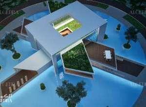 Floating Villas Aerial View