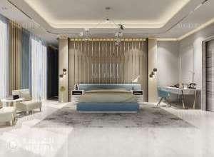تصميم غرفة نوم فيلا صغيرة