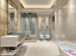 تصميم حمام فيلا صغيرة