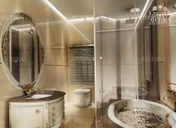 Bathroom Design - Grey-Gold Colors