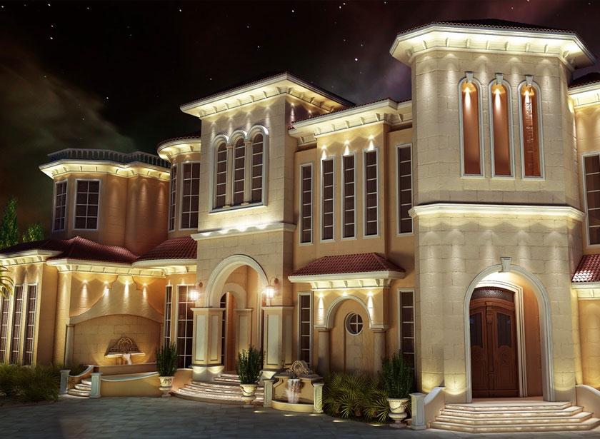 Exterior design gallery best villa exteriors by algedra for Exterior classic design