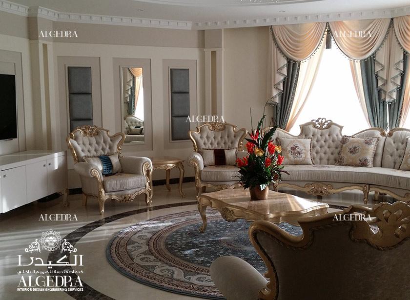 Classic villa decoration in al ain for Decoration villa
