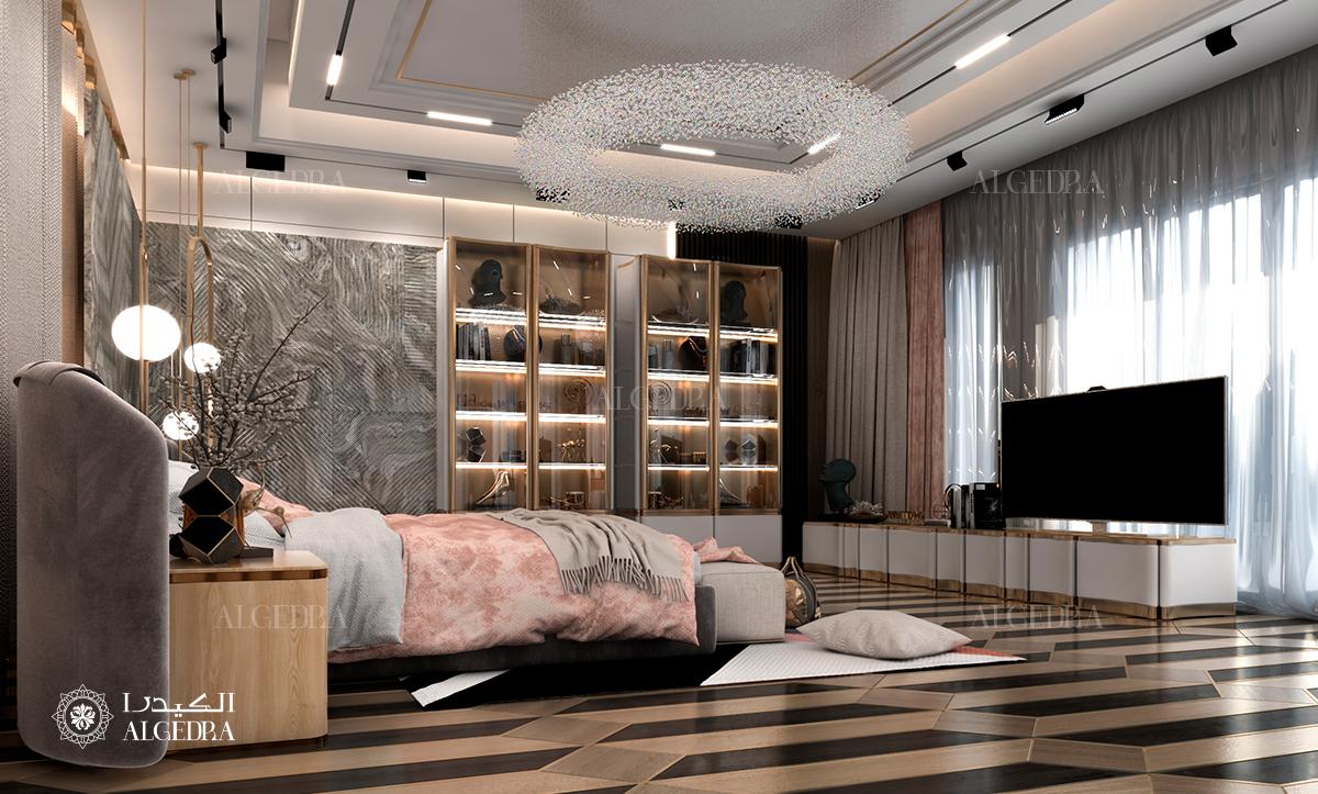 غرفة نوم التصميم الداخلي
