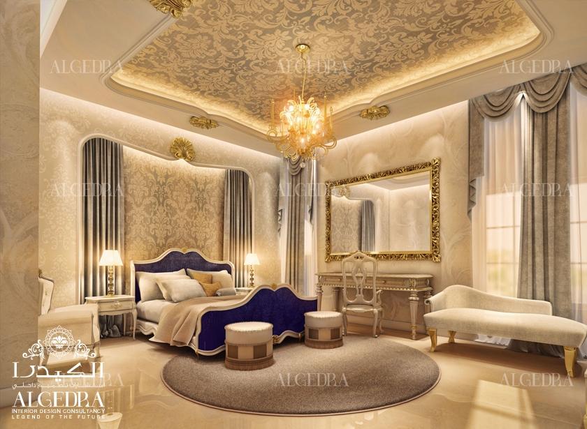 Master bed room design algedra for Interior design dubai