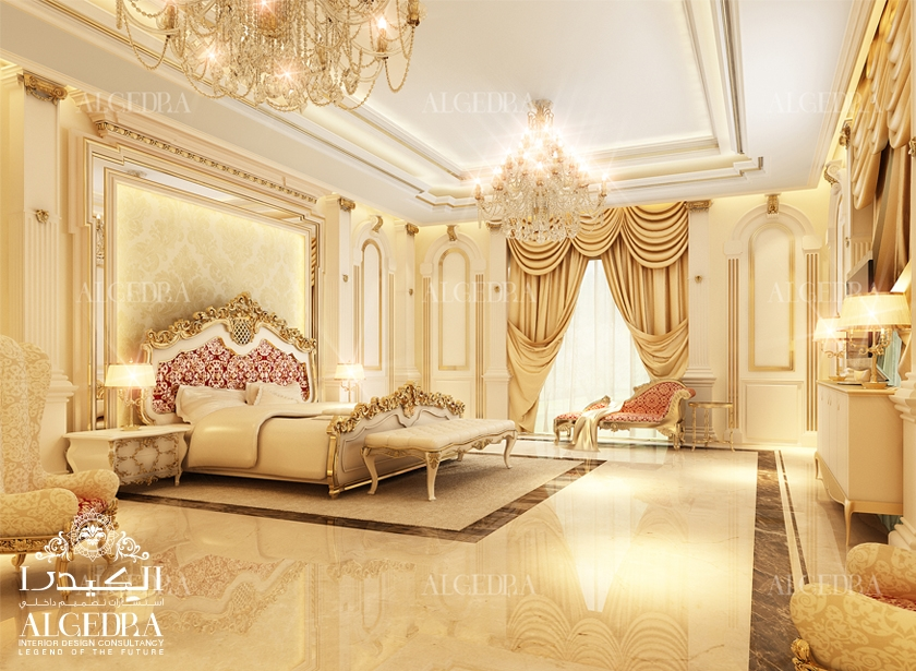 Luxury master bedroom design interior decor by algedra for Bed interior design picture