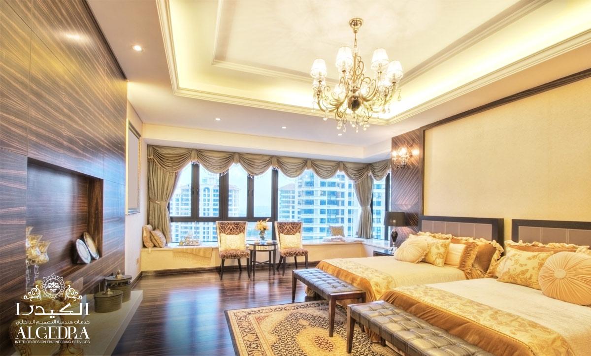 luxury master bedrrom design dubai