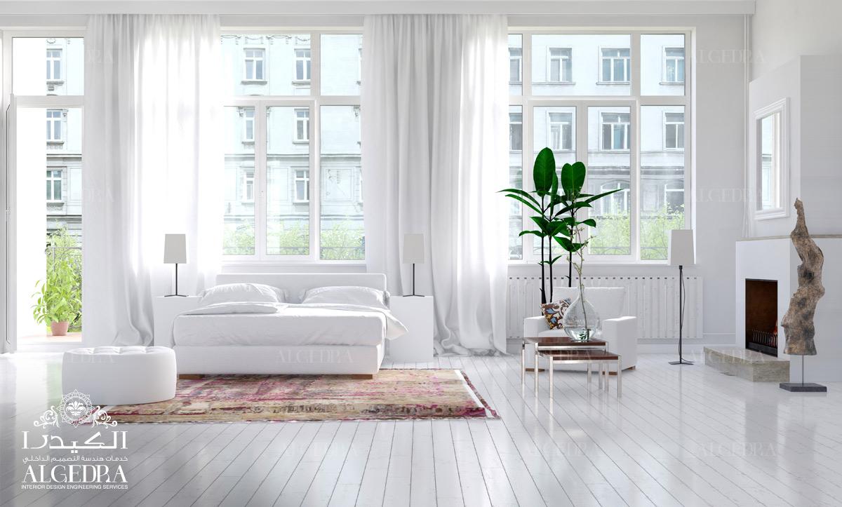 white shine bedroom decor