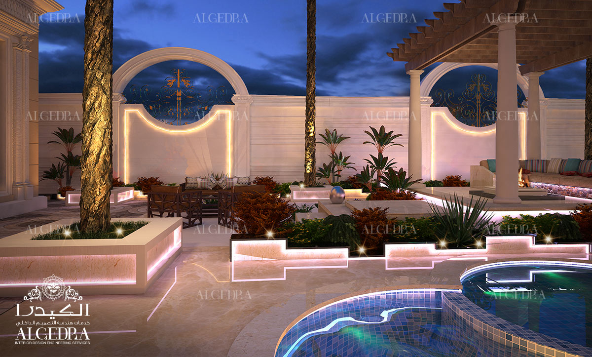 Luxury Landscape design in Abu Dhabi