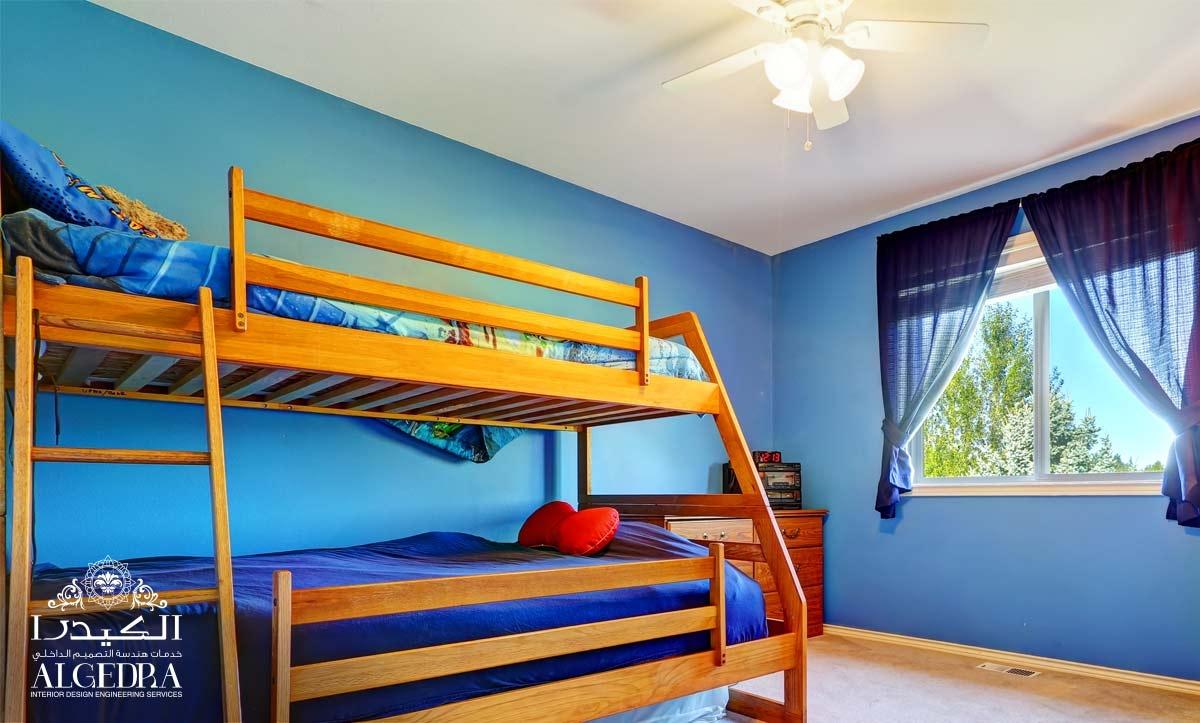 blue wall children's room