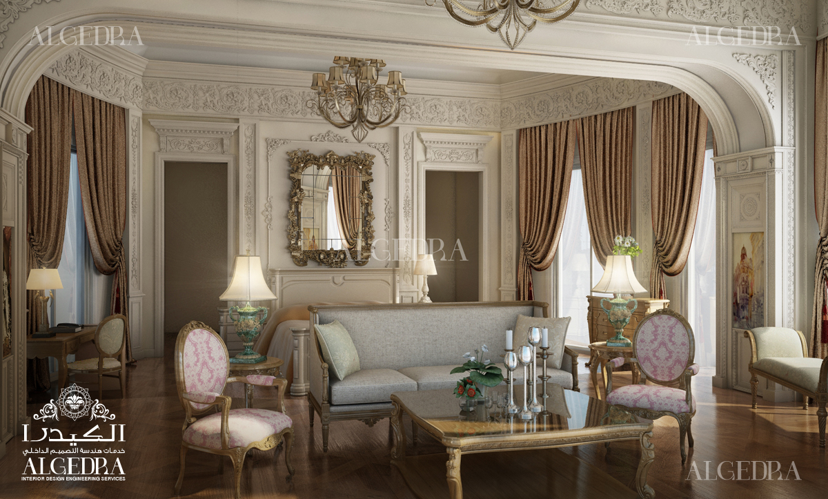 Luxury grand palace family room design