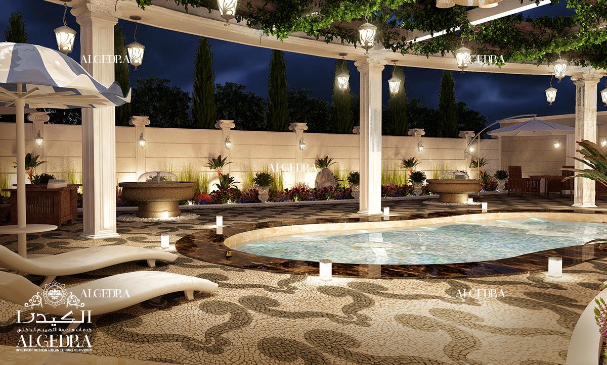 تصميم عصري حمام السباحة