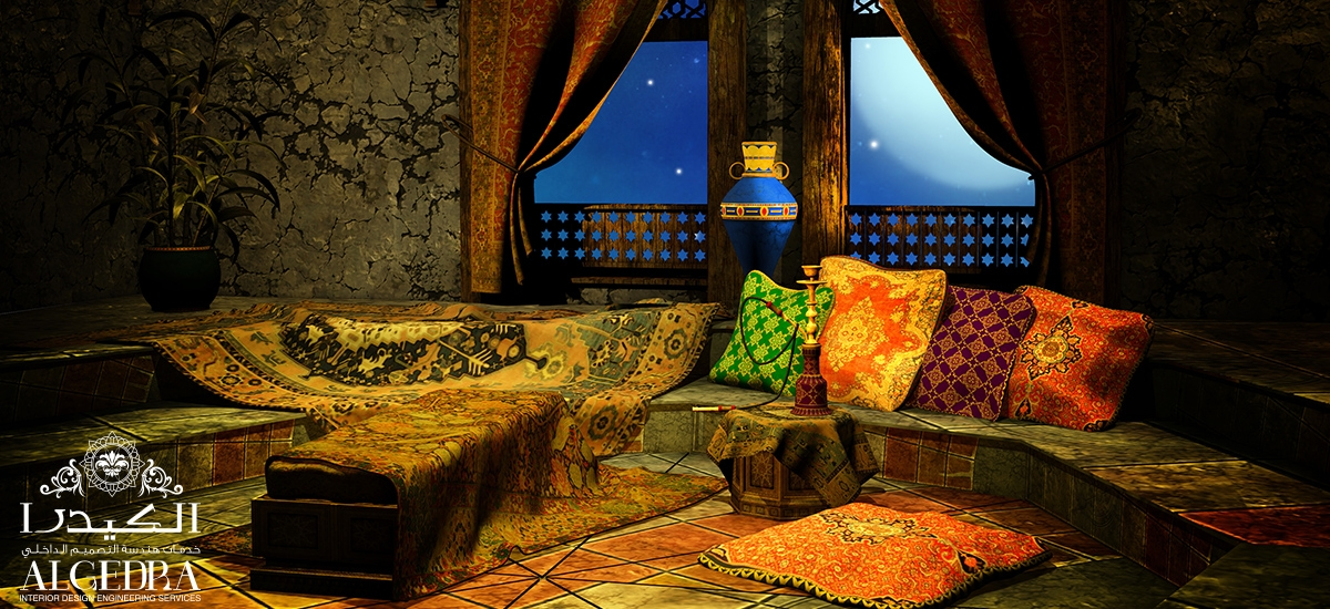 The arabian sittings in modern islamic styles for Arabic living room decoration