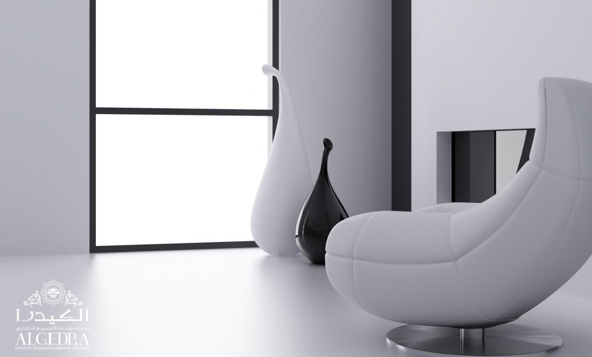 Black white interior design