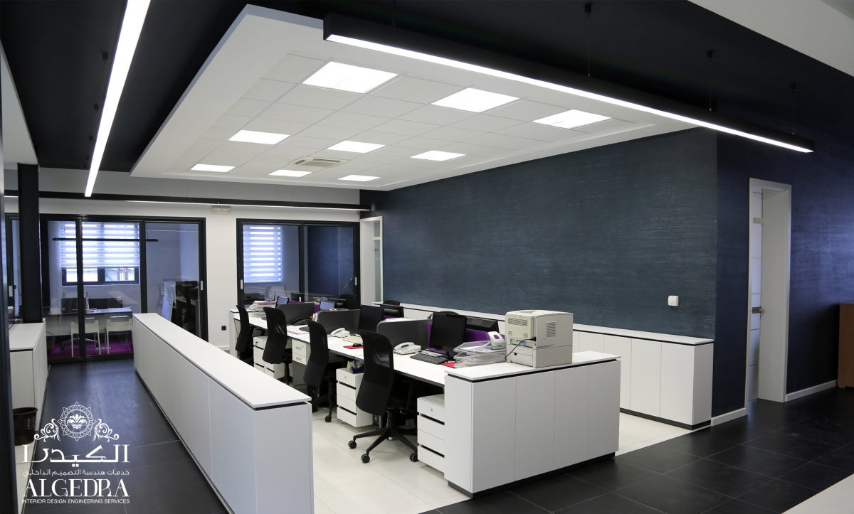 black & white office design