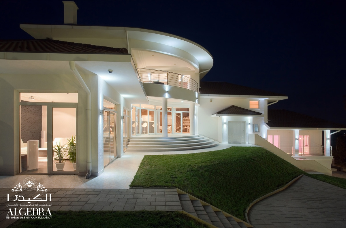 Villa exterior design algedra interior design for Hotel interior and exterior design
