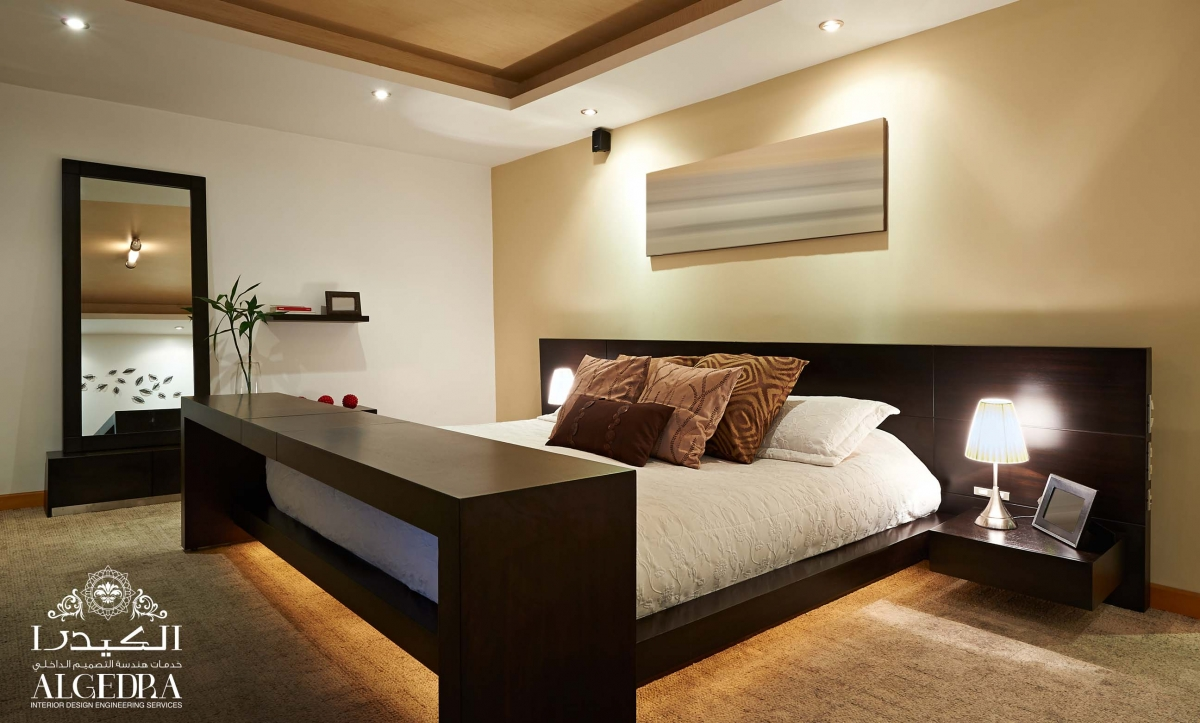 well-lighted bedroom