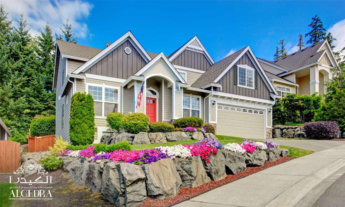 Gray home exterior design