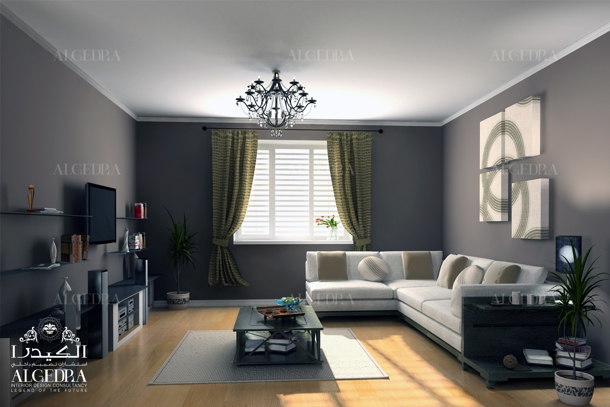 grey color sitting room