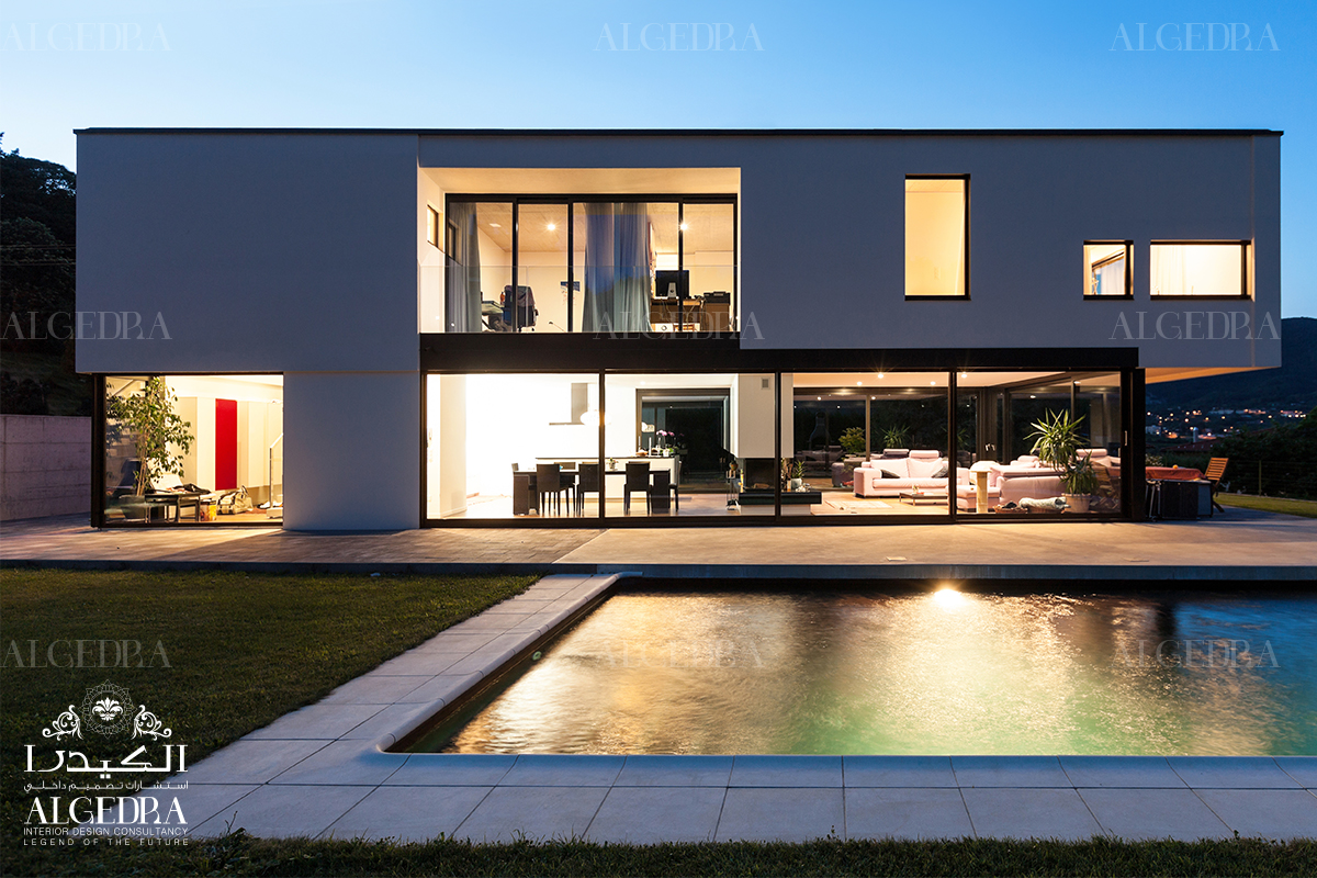 high tech style villas