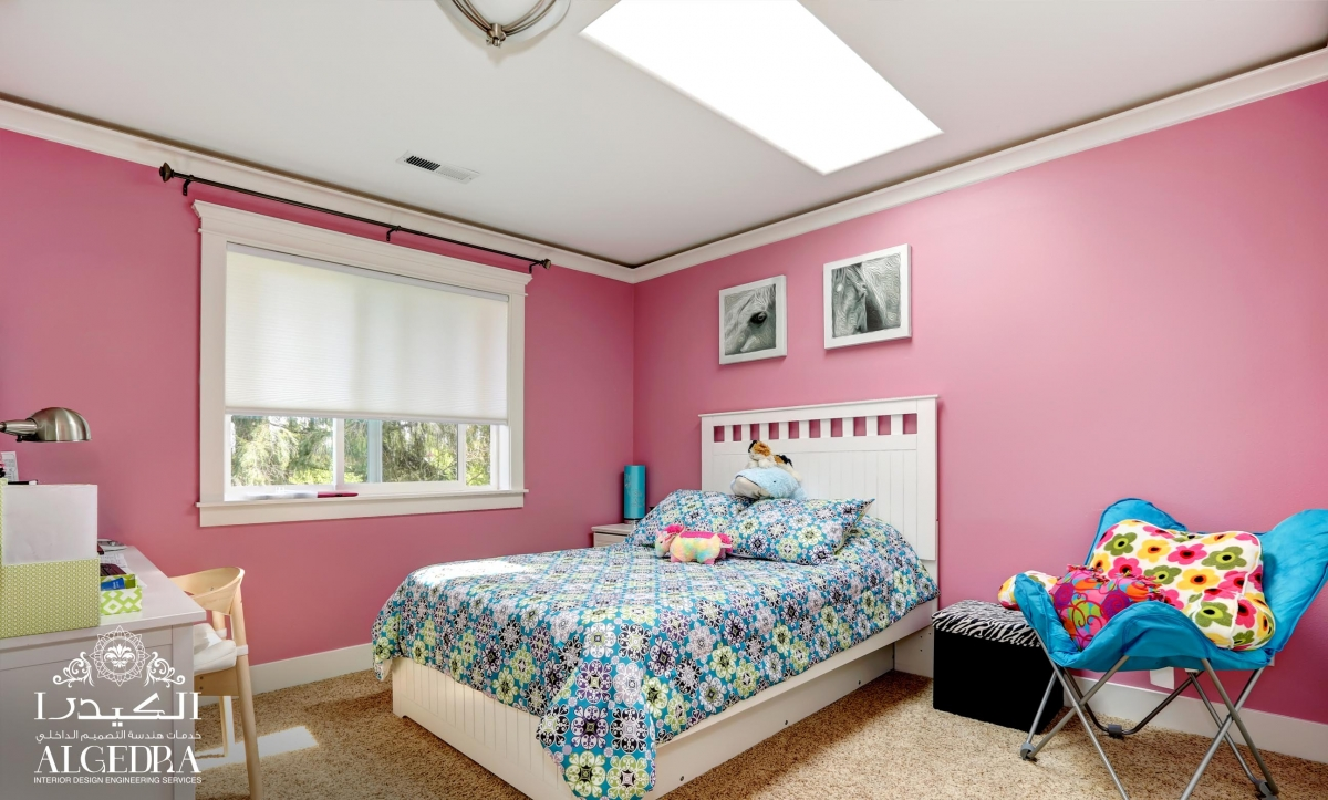 pink children's bedroom