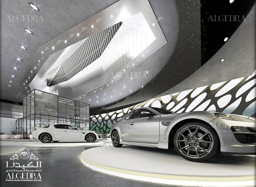 Car showroom interior design in dubai algedra for Car interior decoration