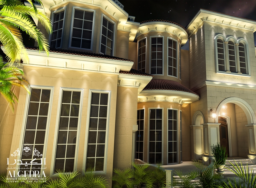 Villa Boundary Wall Design : Beautiful palace exterior residential design