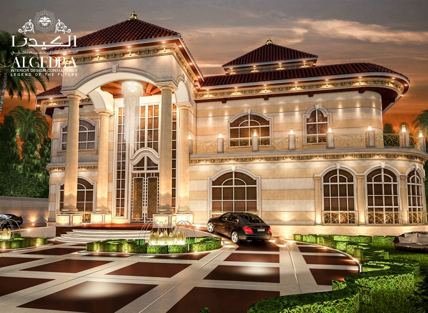 Beautiful palace exterior exterior residential design for Classic villa exterior design