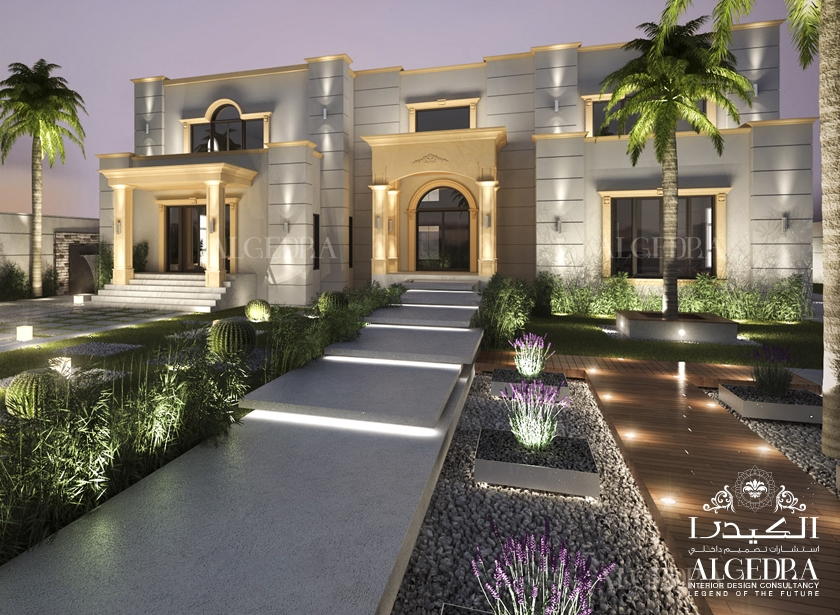Beautiful palace exterior exterior residential design for Interior landscape design