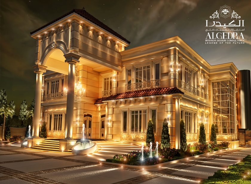 Beautiful palace exterior exterior residential design for Palace design homes