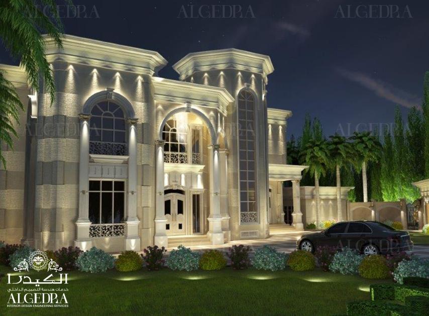 Exterior design gallery best villa exteriors by algedra for Classic villa exterior design