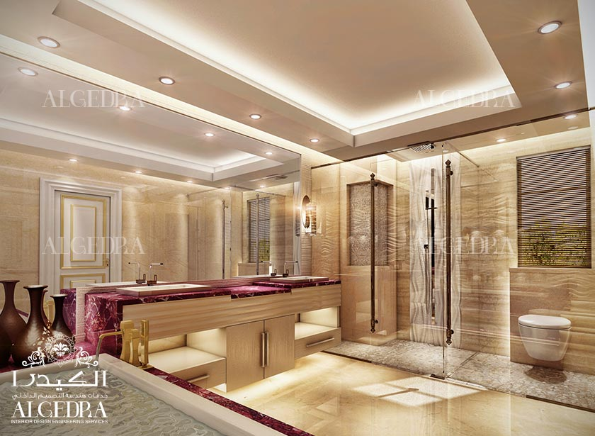 Bathroom design photos by algedra interior for Bathroom interior design dubai