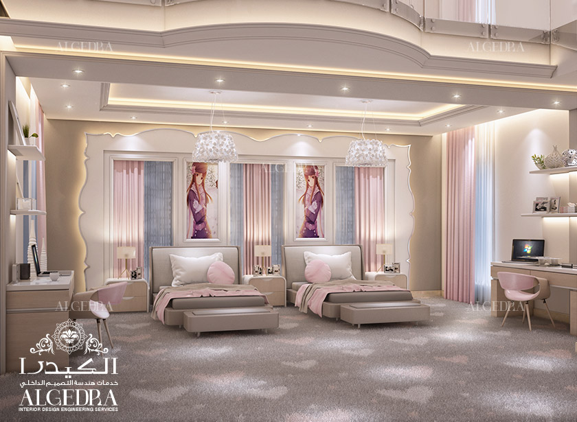 Small bedroom design bedrooom interior funiture - Entrancing girl bedroom decoration with various stripping in girl room ...