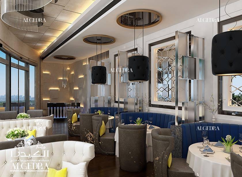 Restaurant decoration design ideas photos by algedra team