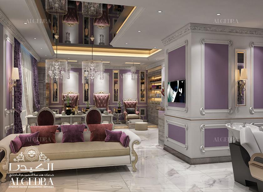 Salon interior design decoration in dubai