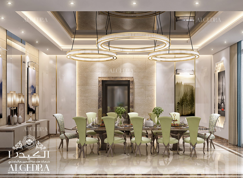 Residential commercial interior designs by algedra for Dining room in arabic