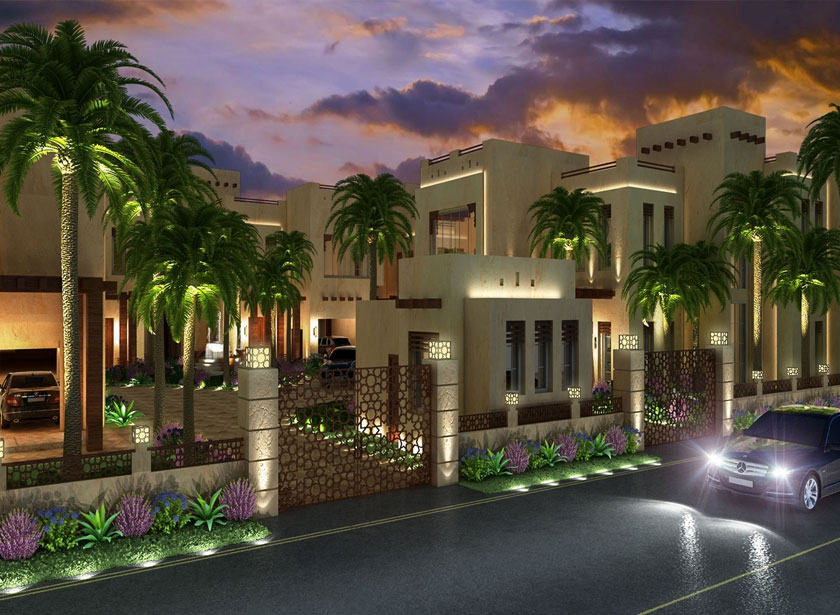 Exterior design gallery best villa exteriors by algedra for Villa landscape design