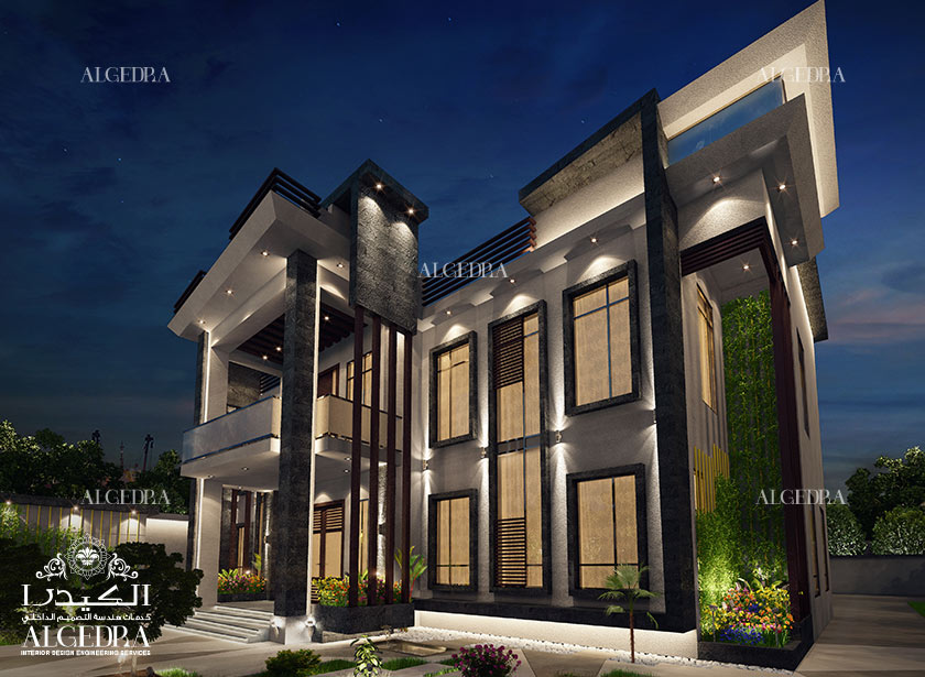 Exterior design gallery best villa exteriors by algedra for Villa outside design