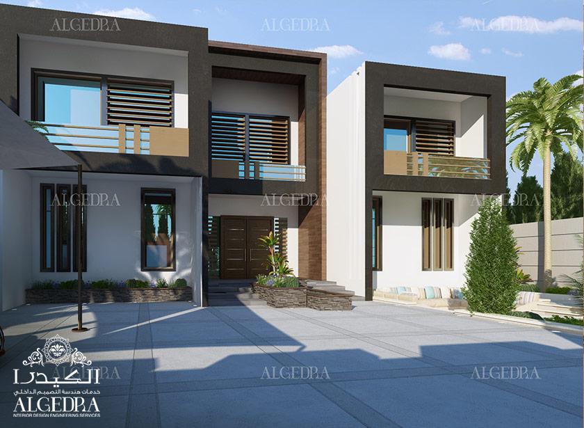 Exterior design gallery best villa exteriors by algedra for Villa exterior design ideas